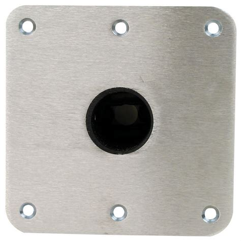 boat table base plate swivl eze snap lock 1 77 quot seat base plate 7 quot x7 quot stainless