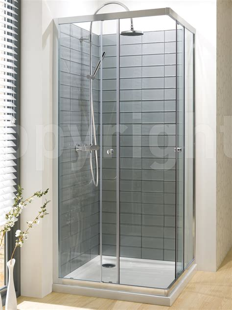 730mm Shower Door Simpsons Edge Corner Entry Shower Enclosure 760mm