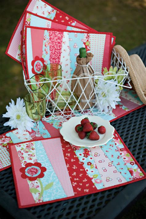 Quilt As You Go Placemats by Quilt As You Go Fresh Blooms Placemats And Runner From