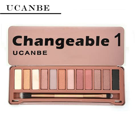 Eyeshadow Mukka 12 Pallete ucanbe brand eye shadow makeup new changeble 1 palette 12 colors eyeshadow palettes with