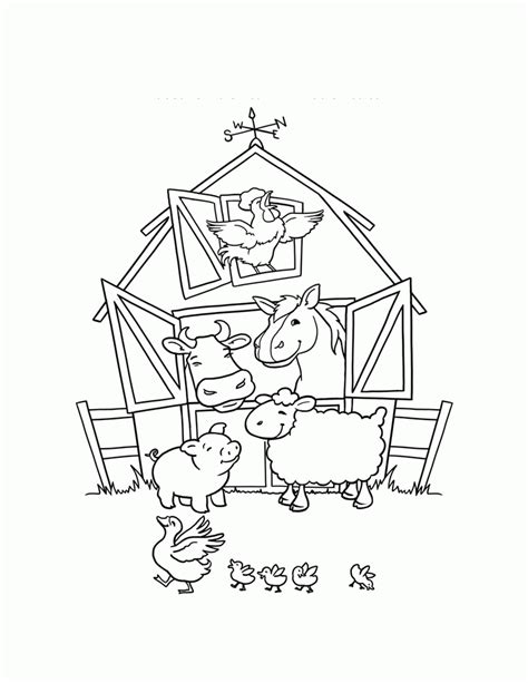 coloring pages of farm animals coloring home