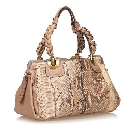 The Heloise Chloes Most Interesting Bags Since The Paddington by Brown Chlo 233 Python Heloise Bag At 1stdibs