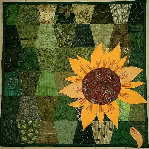 Sunflower Quilt by Flower Applique Pattern Cake Ideas And Designs