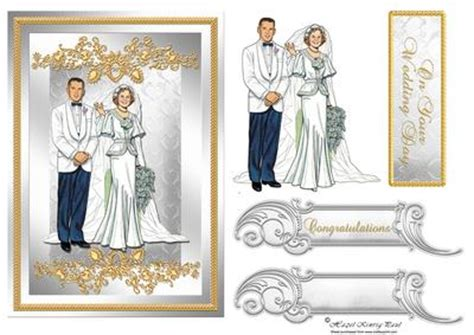 Wedding Decoupage - wedding or anniversary decoupage card front cup176661