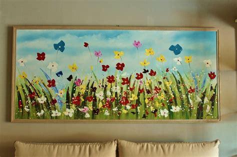 quadri moderni di fiori quadri moderno bubola naibo prato di fiori scontato