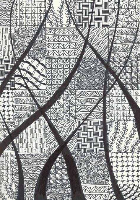 notebook doodle pattern zentangle inspired art pigma micron pen on moleskine