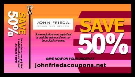 promotion color john frieda hair color coupon john frieda coupons