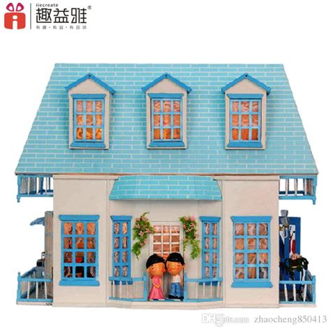 3d dollhouse gifts new brand diy doll houses wooden doll house unisex