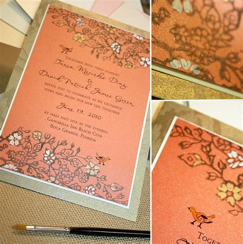 coral and gold wedding invitations vintage lacy coral and gold wedding invitationmomental designs