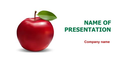 Download Free Fresh Apple Powerpoint Template For Presentation Apple Powerpoint Templates
