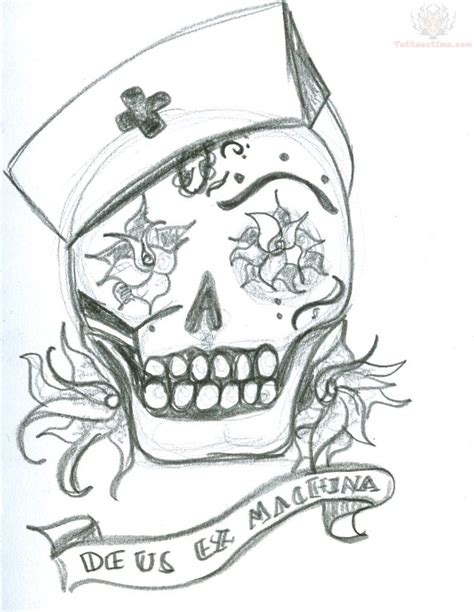 zombie nurse tattoo designs images designs
