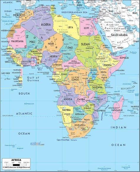 africa map q africa geography map images