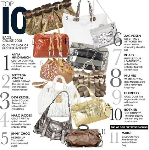 Top 10 Cruise Bags For 2008 by Top 10 Luxury Handbags Brands Handbags 2018
