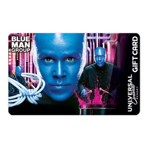 Gift Card Universal - your wdw store universal collectible gift card blue man group city walk