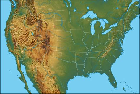 us map with states and geographical features lesson 1 2 physical maps april smith s technology class