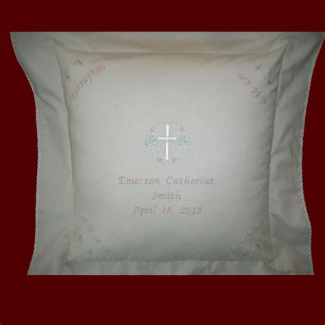 personalized pillow muslin keepsake personalized baby pillow christening pillows smocked treasures