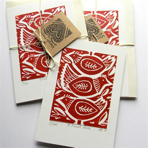 Lino Cut Cards by Mangle Prints Cards And Heat