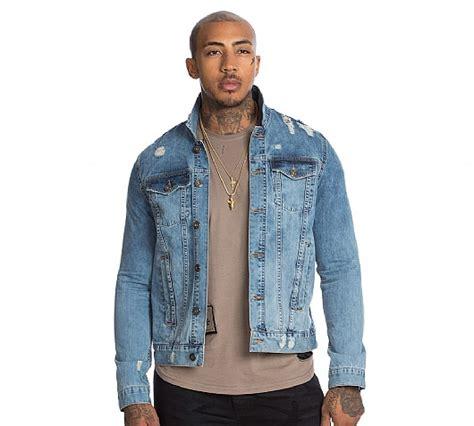 Pablo Denim Jacket glorious gangsta pablo denim jacket blue footasylum