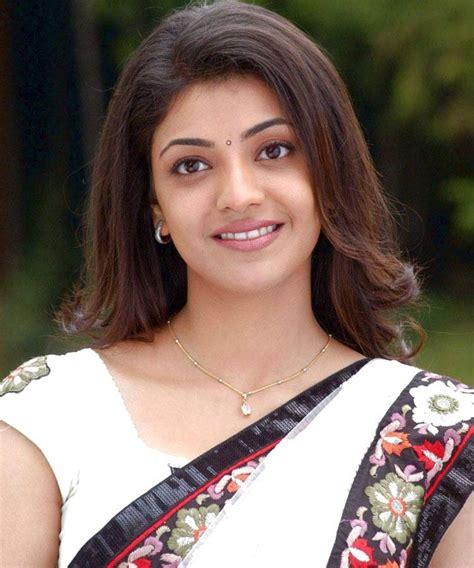 adsense meaning in telugu cute smiling actress kajal agarwal in white saree pics
