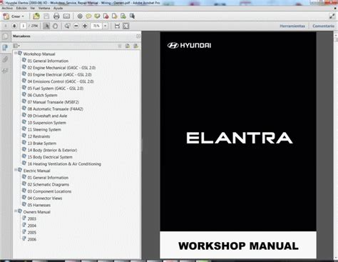 car service manuals pdf 2006 hyundai elantra engine control hyundai elantra 2000 06 xd service manual wiring diagram owners manual