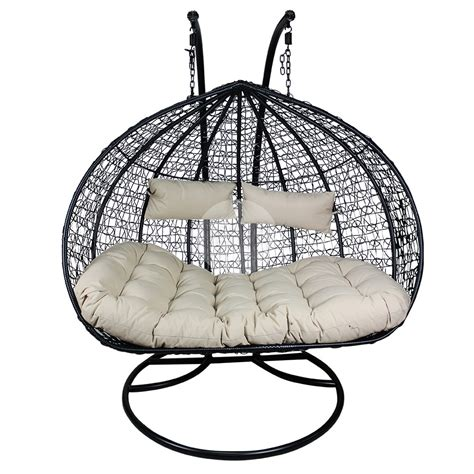 black egg chair outdoor designer hanging egg chair black buy hanging egg