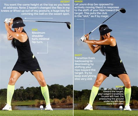 body swing golf michelle wie demonstrates how to activate glutes