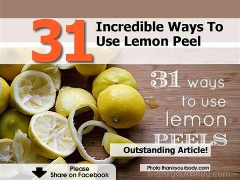 Ways To Use A Lemon 31 ways to use lemon peel
