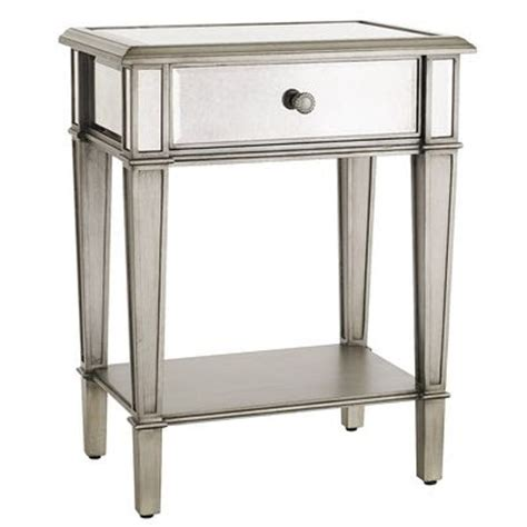 Pier One Side Table by Decor On A Dime Is Mirrored Furniture Here To Stay