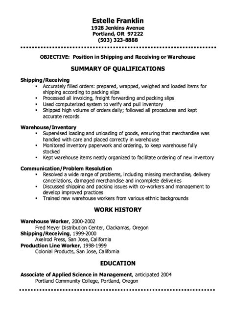 Resume For Shipping Clerk by Shipping Clerk Resume Sle Http Resumesdesign Shipping Clerk Resume Sle Free