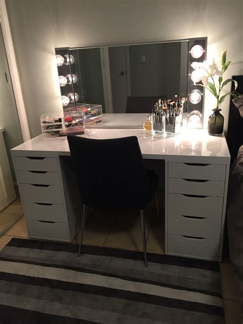 vanity mirror with drawers and lights 23 diy makeup room ideas organizer storage and