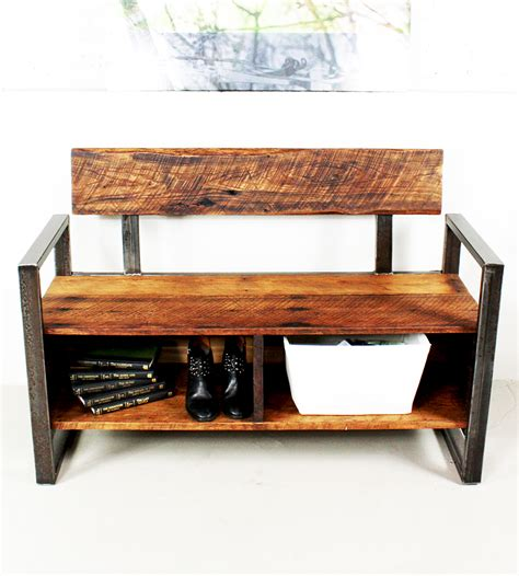 storage wood bench reclaimed wood storage bench home furniture what we