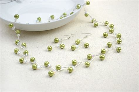 jewelry projects jewelry crafts ideas adorable pearl necklace earring set