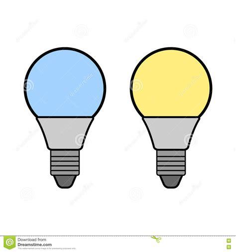 flat led light bulb led bulbs flat color icon light bulb energy saving l