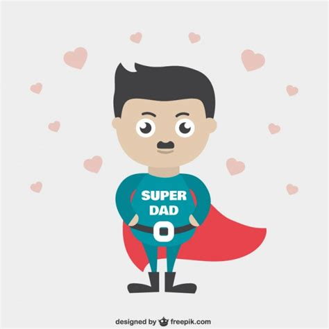 imagenes happy birthday daddy super dad cartoon vector free download