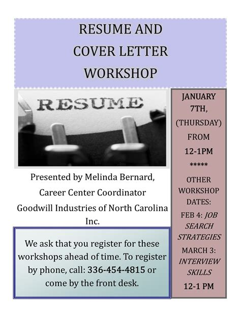 Resume And Cover Letter Workshop Resume And Cover Letter Workshop 88 5 Wfdd