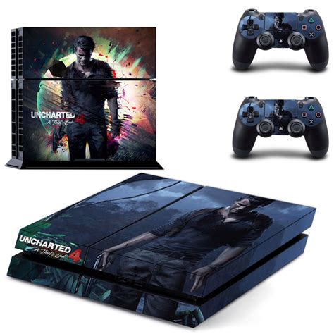 Sony Playstation 4 Ps4 Free Uncharted aliexpress buy new uncharted 4 ps4 skin sticker for sony playstation 4 ps4 console