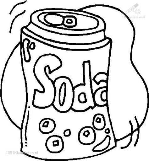 coloring pages of food and drinks soda coloring page