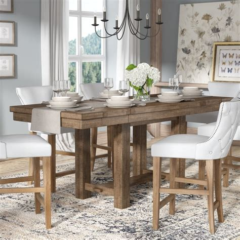 rectangle counter height dining table laurel foundry modern farmhouse rectangular