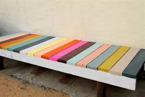 colored benches do it yourself bench interior design tips