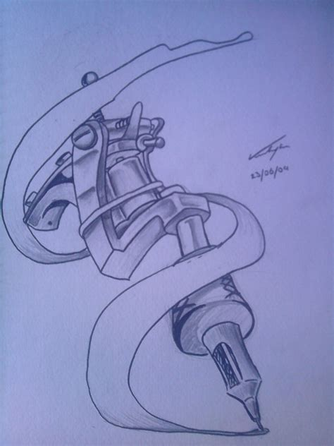 Tattoo Gun Designs | tattoo gun tattoo design by theragingdeadstudio on deviantart
