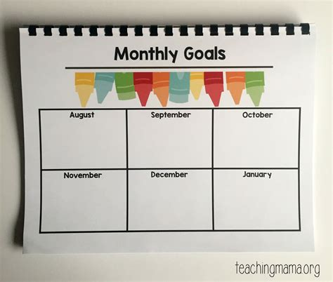 monthly goal planner printable printable preschool planner on sale now teaching mama