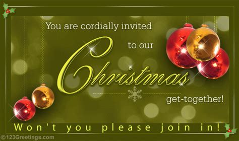 merry christmas invitation  invitations ecards greeting cards