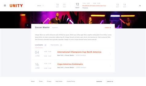 unity layout event unity event fest conference psd template by stockware