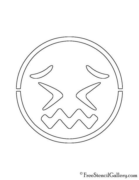 printable pumpkin stencils emoji emoji confounded stencil free stencil gallery
