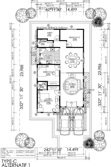 pelan rumah lengkap rumah banglo depan cantik nilai negeri sembilan bed