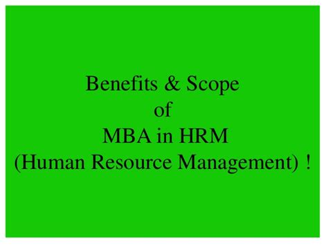 Scope Of Mba In Human Resource Management In Pakistan by Amity Distance Learning Mba In Hrm Human Resource