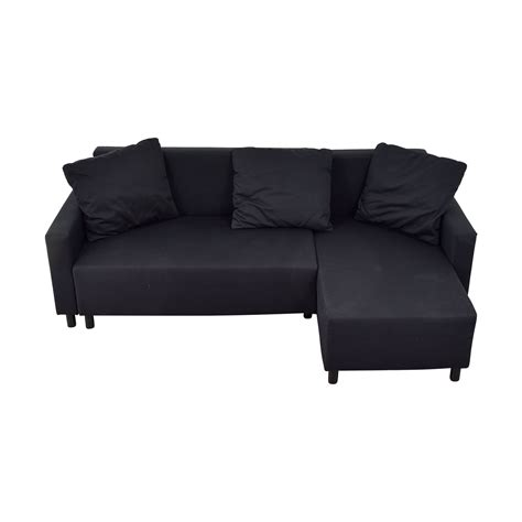 31 ikea ikea black sleeper chaise sectional with