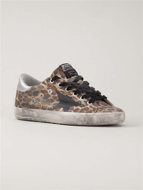 golden goose deluxe brand sneakers lyst golden goose deluxe brand leopard print sneakers in