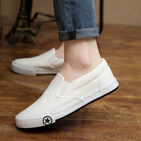 get cheap white canvas slip on shoes aliexpress