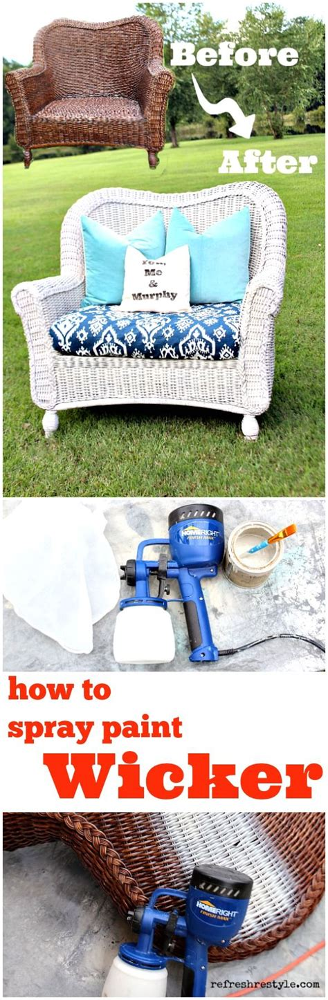 spray paint wicker furniture how to spray paint wicker how to spray paint furniture